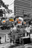 Safari CityPop Collection - NYC Hot Dog with Zebra Man Fotoprint van Philippe Hugonnard