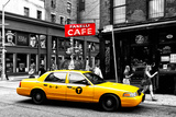 Safari CityPop Collection - New York Yellow Cab in Soho Fotoprint van Philippe Hugonnard