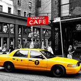 Safari CityPop Collection - New York Yellow Cab in Soho IV Fotografisk tryk af Philippe Hugonnard