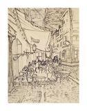 Cafe Terrace at Night, 1888 Posters av Vincent van Gogh