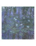 Blue Water Lilies, 1916-1919 Lámina por Claude Monet