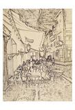 Cafe Terrace at Night, 1888 Plakat av Vincent van Gogh