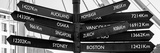 Awesome South Africa Collection Panoramic - Sign Post Cape Town B&W Fotografisk tryk af Philippe Hugonnard