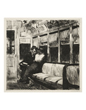 Night on the El Train, 1918 高品質プリント : エドワード・ホッパー
