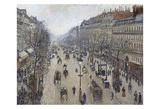 Boulevard Montmartre, Morning, Cloudy Weather, 1897 Affiches par Camille Pissarro