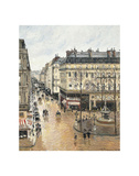 Rue Saint-Honoré in the Afternoon. Effect of Rain, 1897 Affiches par Camille Pissarro
