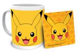 Pokemon Pikachu Mug and Coaster Set Becher