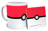 Pokemon Pokeball Mug and Coaster Set Taza