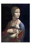 The Lady with an Ermine, ca. 1490 Poster tekijänä Leonardo Da Vinci