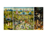 The Garden of Earthly Delights, 1490-1510 Print van Hieronymus Bosch