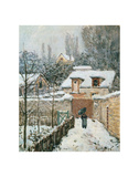 Snow at Louveciennes, 1874 Poster by Alfred Sisley