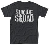 Suicide Squad- White Block Logo T-skjorte