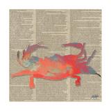 Sea Creatures on Newsprint I Affiches par Julie DeRice