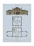 Chambray House & Plan I Prints by Thomas Kelly