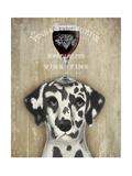 Dog Au Vin Dalmatian Premium Giclee Print by Fab Funky