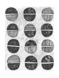 【北欧】抽象画(黒) ポスター : June Vess
