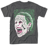 Suicide Squad- Joker Tattooed Face T-Shirts