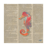 Sea Creatures on Newsprint IV Posters par Julie DeRice