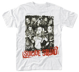 Suicide Squad- Red Logo Portrait T-Shirts