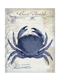 Seaside Postcard Cream e Premium Giclee Print by Fab Funky
