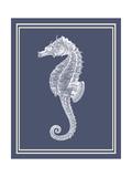 Mixed Nautical White on Indigo Blue d Premium Giclee Print by Fab Funky
