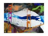 San Francisco Bridge Abstract I Art par Sisa Jasper