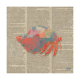 Sea Creatures on Newsprint II Posters par Julie DeRice