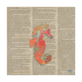 Sea Creatures on Newsprint III Affiches par Julie DeRice