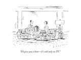 """I'll give you a hint—it's sold only on TV."" - New Yorker Cartoon Premium Giclee Print by Barbara Smaller"