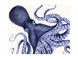 Landscape Blue Octopus Poster af Fab Funky