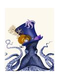 Octopus Nautical Hat Kunstdrucke von Fab Funky