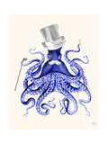 Octopus About Town Premium Giclee Print by Fab Funky