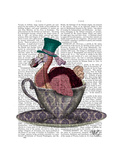 Dodo in Teacup Premium Giclee Print by Fab Funky