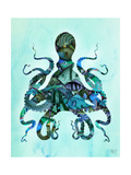 Blue Fishy Octopus Prints by Fab Funky