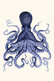 Blue Octopus 3 Posters by Fab Funky