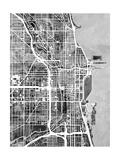 Chicago City Street Map Posters av Michael Tompsett