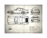Porsche 911-Turbo 1977 White Stampa giclée di Mark Rogan