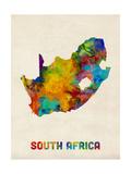 South Africa Watercolor Map Giclée-Premiumdruck von Michael Tompsett