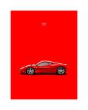 Ferrari 458 Italia Red Giclée-Druck von Mark Rogan
