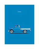 Chevrolet Cameo Pickup 1957 Bl Reproduction procédé giclée par Mark Rogan