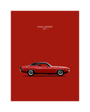 Dodge Challenger R-T 1970 Giclee Print by Mark Rogan
