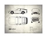 Porsche 944 Turbo White Giclee Print by Mark Rogan