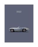 Corvette 1965 Grey Gicléetryck av Mark Rogan