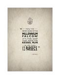 Millennium Falcon Giclee-trykk av Mark Rogan