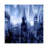 NYC - Reflections in Blue I Impressão giclée por Kate Carrigan