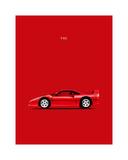 Ferrari F40 Stampa giclée di Mark Rogan