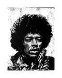 Hendrix Lámina giclée por Neil Shigley