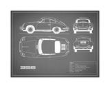 Porsche 356C-Grey Stampa giclée di Mark Rogan