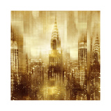 NYC - Reflections in Gold I Impressão giclée por Kate Carrigan