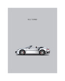 Porsche 911 Turbo Grey Lámina giclée por Mark Rogan